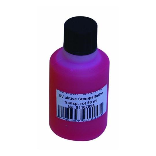 UV razítkovací barva 50ml, červená