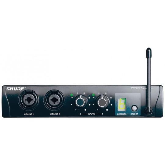 SHURE EP2T - vysílač/dvoukanálový mixér řady PSM 200 pro sluchátkový (In Ear) monitoring