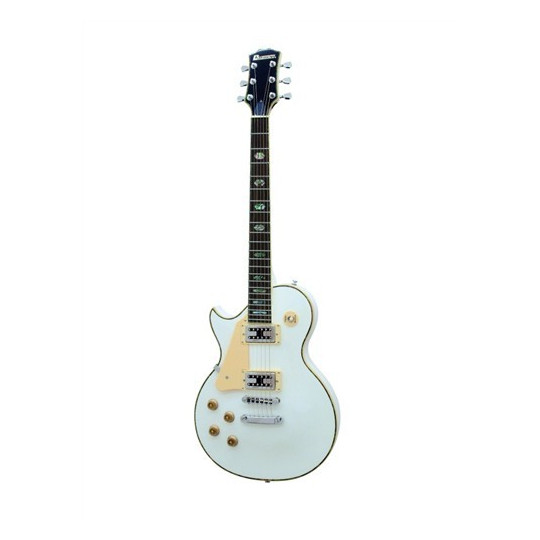 Dimavery LP-700L elektrická kytara, bílá, levoruká