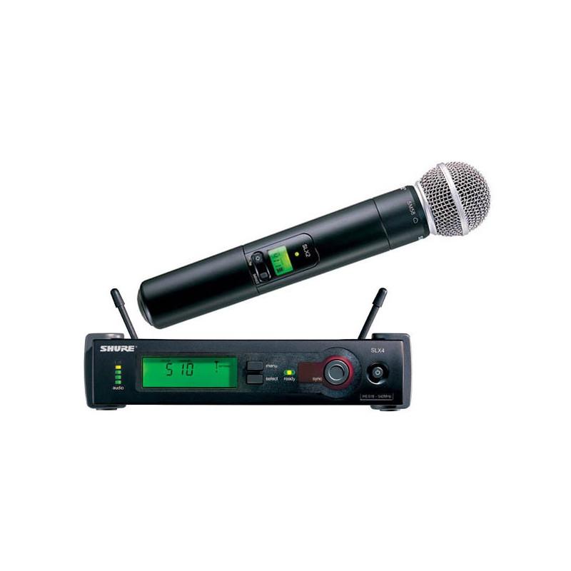 SHURE SLX24E/SM58 - sada mikrofon/vysílač SM58 přijímač