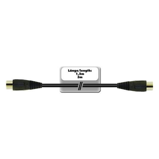 Kabel DC-30 2x 5-pólový DIN samec, 3 m