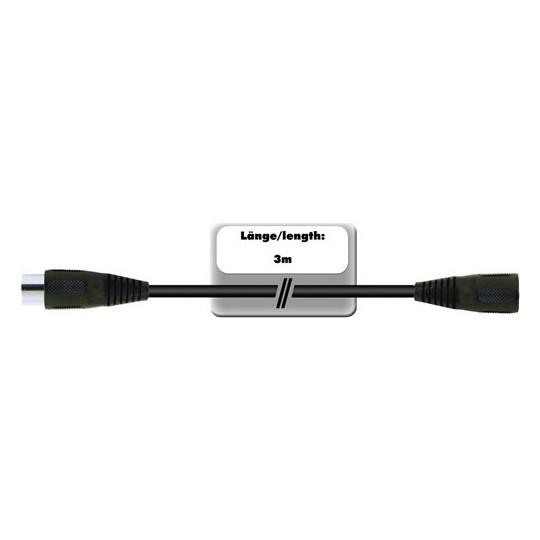 Kabel DC-30 2x 8-pólový DIN samec, 3 m