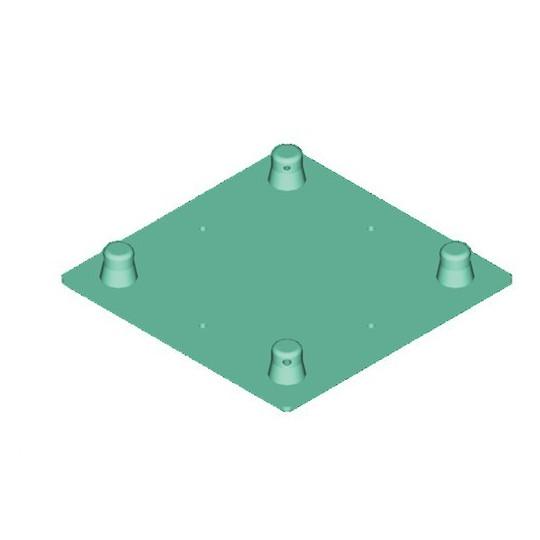 Decolock DQ4-WPM deska pro montáž na stěnu - samec