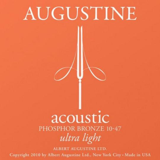 Augustine struny pro akustickou kytaru Fosforečná bronz Light .012-.053