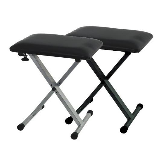 Stolička pro Keyboard BSX Stříbrno/šedá