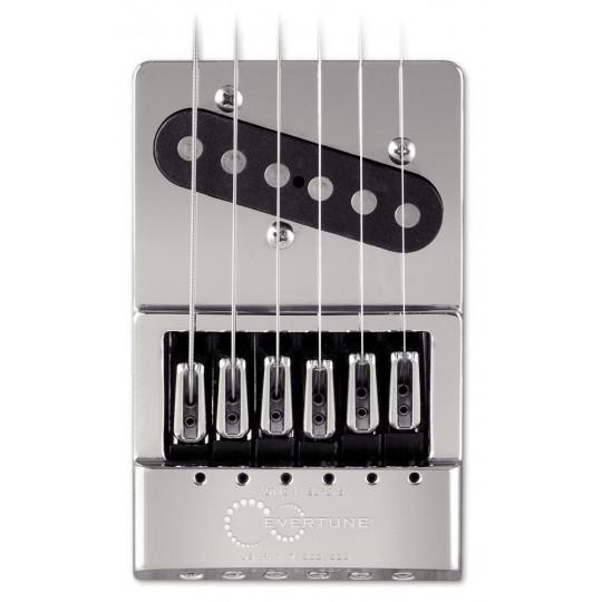 Evertune Kobylka pro E-kytaru T-Style nikl