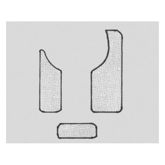 Úderová deska Fire&Stone Chránič krytu Sada pro koncertní kytaru,3-dílná