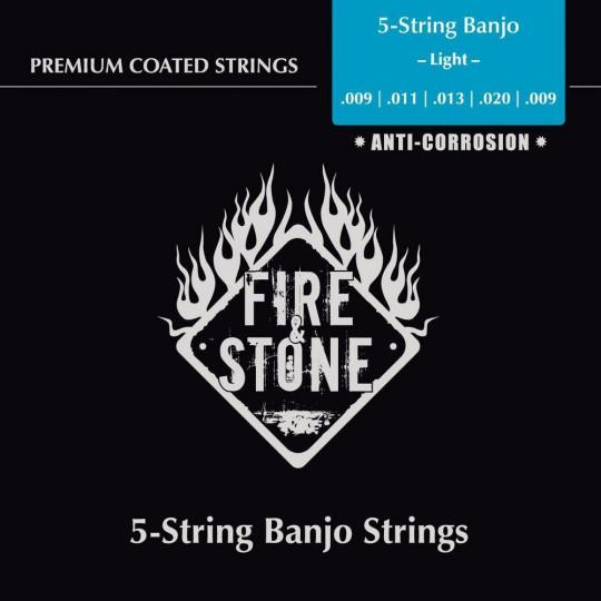 Struny pro banjo Fire&Stone Slitina mědi Light