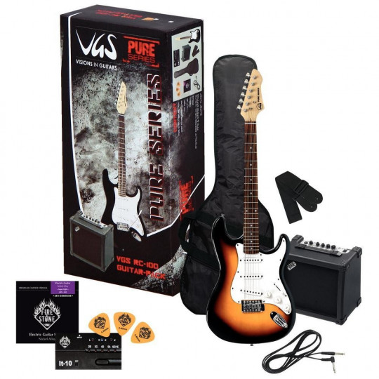 VGS RC-100 Kytarový set 3-Tone Sunburst