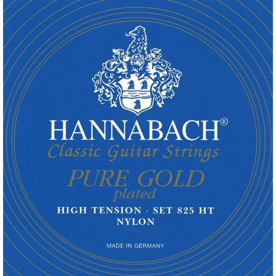 Hannabach Struna pro klasickou kytaru série 825 High tension Speciální pozlacení Sada
