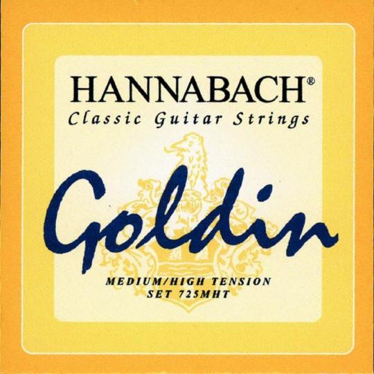 Hannabach Struny pro klasickou kytaru série 725 Medium / High Tension Goldin Sada