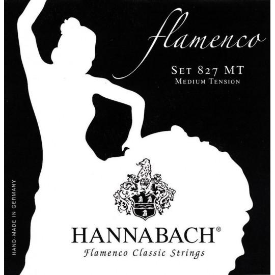 Hannabach Struny pro klasickou kytaru série 827 Medium tension Flamenco Classic Sada