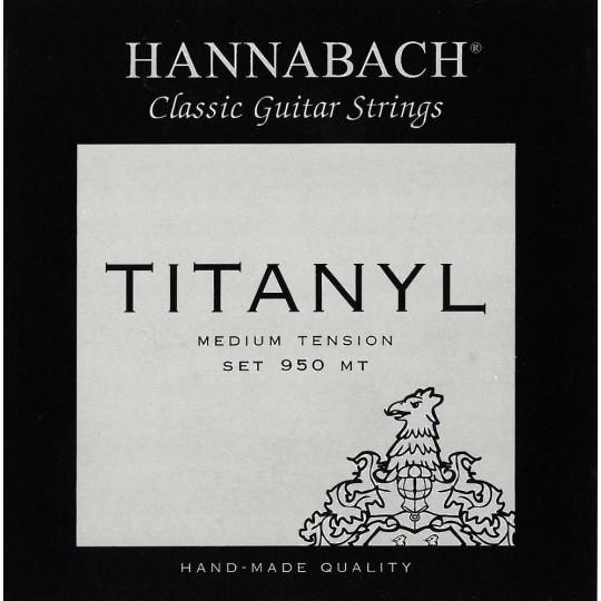Hannabach Struny pro klasickou kytaru série 950 Medium tension Titanyl Sada