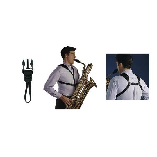 Neotech Popruh pro saxofon Soft Harness Junior-černá, délka 21 - 31,2 cm