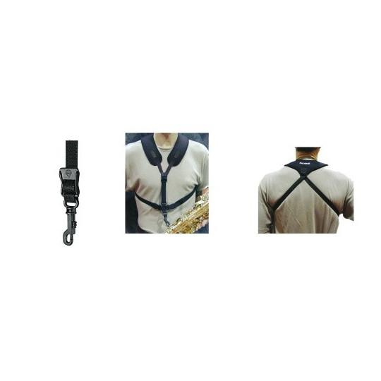 Neotech Popruh pro saxofon Super Harness Černá, délka 35,6 - 43,1 cm