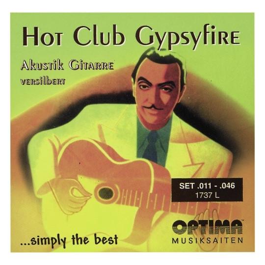 Optima struny pro akustickou kytaru Hot Club Gypsyfire-postříbřené Sada