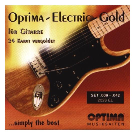 Optima struny pro E-kytaru Gold Strings Round Wound Sada