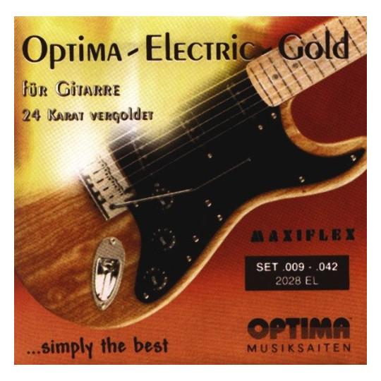 Optima struny pro E-kytaru Gold Strings. Maxiflex Sada