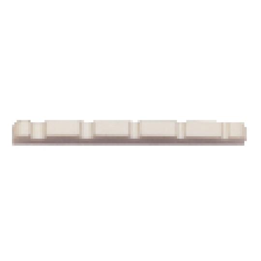 Partsland Plastový nultý pražec Před-vrubované E-Bass, 5-strunná Bílý