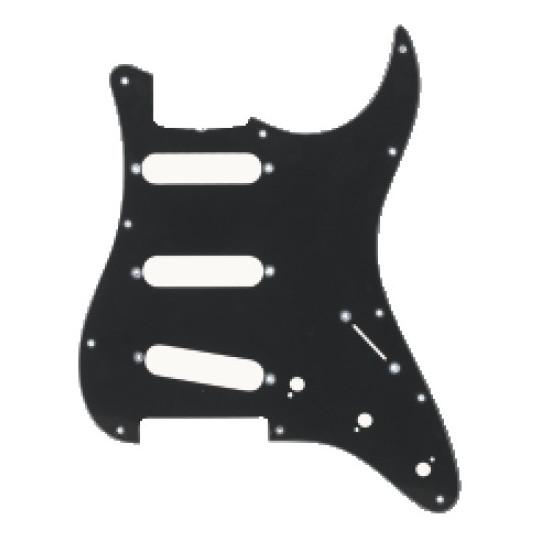 Partsland Úderová deska Stratocaster model Černá, 3-vrstvá