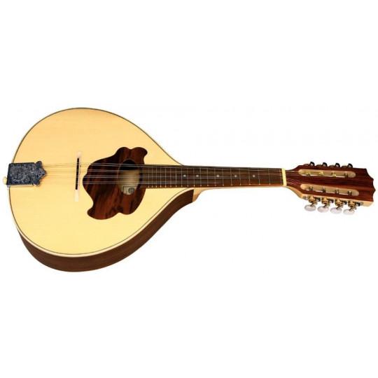 Plochá mandolína Pro Natura Silver Masivní horní deska