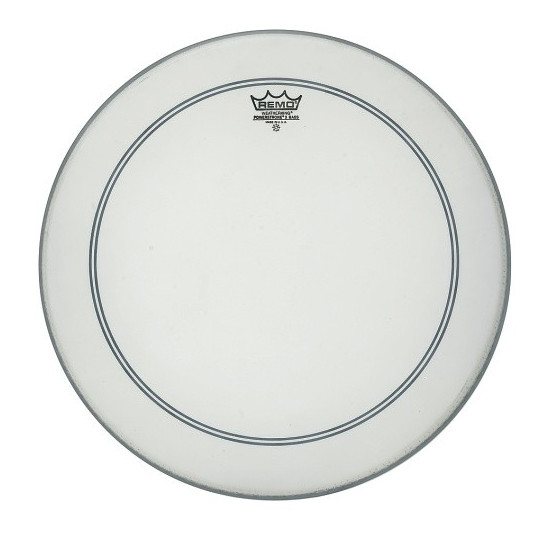 """Remo Powerstroke 3 Bílá, zdrsněné na bas drum 22"""" P3-1122-C2"""