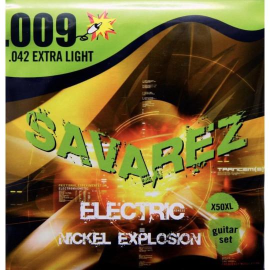 Savarez struny pro E-kytaru EXPLOSION AB 346. Round Wound 6-string Sada X50XL