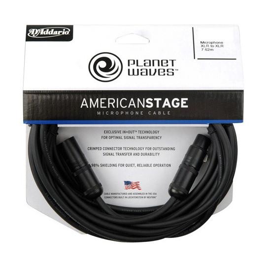 PLANET WAVES PW-AMSM-25 - mikrofonní kabel