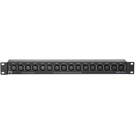 ART P16 - 16-kanálový symetrický XLR M/F patch bay