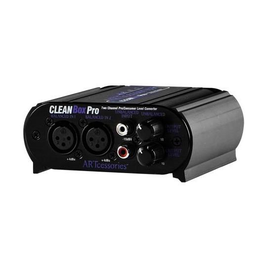 ART CLEANBOX PRO - 2k. sym/nesym. konvertor s regulací - XLR/RCA/1/8TRS