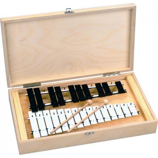 GOLDON - chromatický metalofon v dřevěném boxu - 25 kamenů (11085)