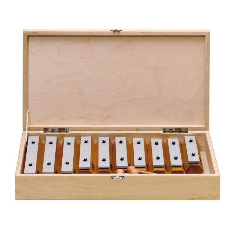 GOLDON - set 10 kamenů metalofonu v dřevěném boxu (11606)
