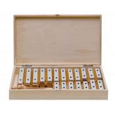 GOLDON - set 19 kamenů metalofonu v dřevěném boxu (11615)