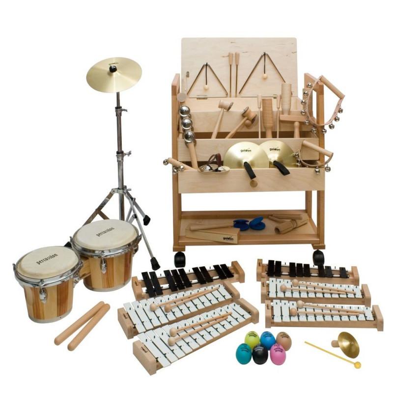 "GOLDON - ""Rytmický vozík""- malý, bongo sortiment (30512)"