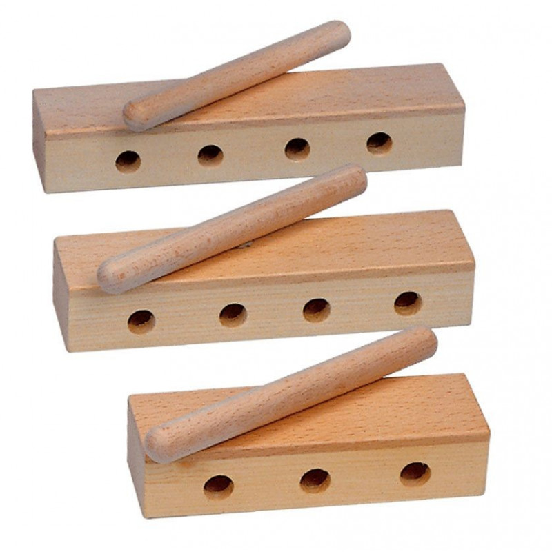 GOLDON - wood block děrovaný - 20 cm (33335)