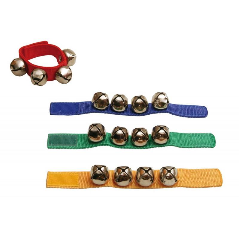 GOLDON - 4 rolničky na barevném řemínku- 1 kus (33400)