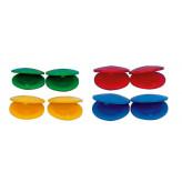 GOLDON - kastaněty různé barvy - 80 párů (33729)
