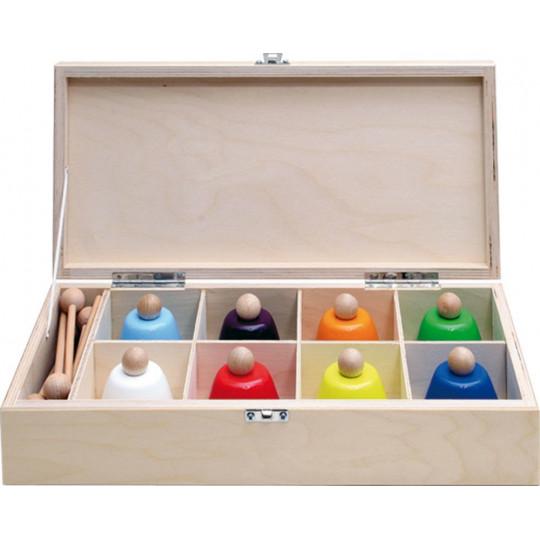 GOLDON - sada zvonků v dřevěné krabici (33855)