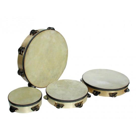 Goldon tamburína s blánou a činelky 25cm