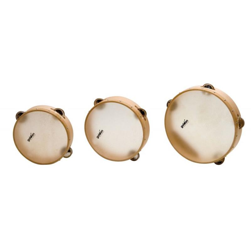 GOLDON - tamburína s blánou a chřestítky - 24cm (35330)