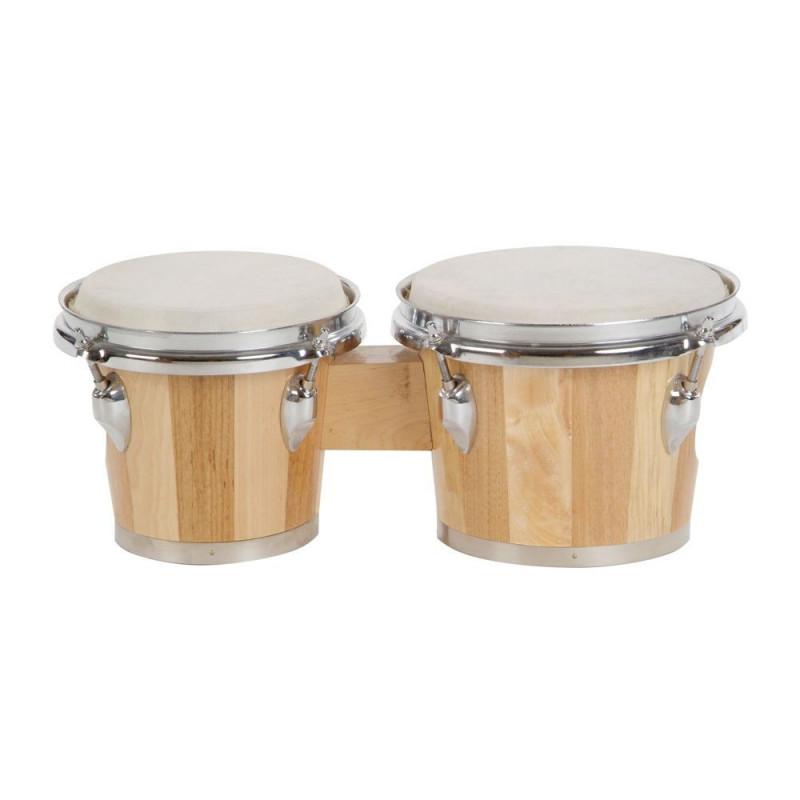"""GOLDON - bonga 6,5"""" a 7,5"""" - přírodní, pruhované dřevo (38010)"""