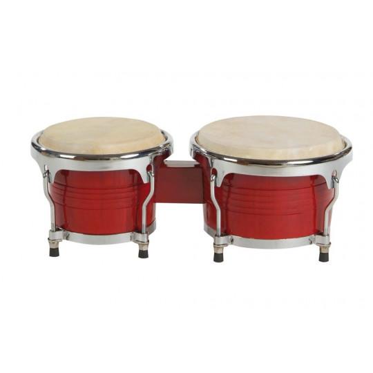 """GOLDON - bonga profesionální 7"""" a 8,5"""" - barva červená (38060)"""