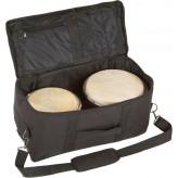 """GOLDON - bonga profesionální 7"""" a 8,5"""" s taškou - barva červená (38060)"""