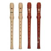 GOLDON - sopránová zobcová flétna dřevěná - typ barokní, barva hnědá (dod. v krabici) (42066)