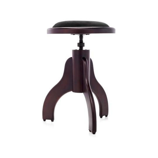AW Klavírní stolička s kulatým sedákem - palisandr mat.