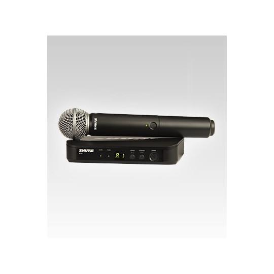 SHURE BLX24RE/SM58 - SMW systém, BLX4R + ruční mikr. SM58, rack