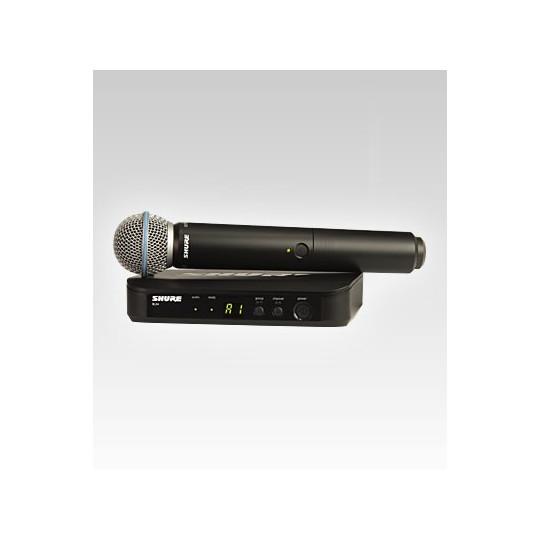 SHURE BLX24RE/B58 - BW systém, BLX4R + ruční mikr. Beta58A, rack