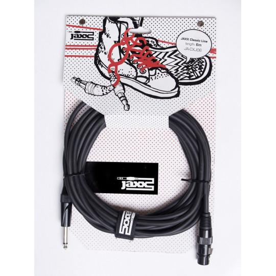 JAXX JA-CXJ06 - mikrofonní kabel XLR samice/jack řady Classic - 6m