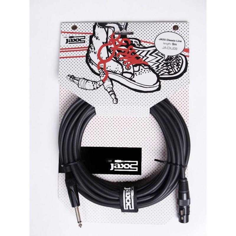 JAXX JA-CXJ09 - mikrofonní kabel XLR samice/jack řady Classic - 9m