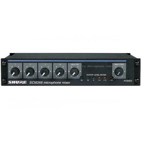 SHURE SCM268E - mikrof. mix, mono, 4 vst., AUX